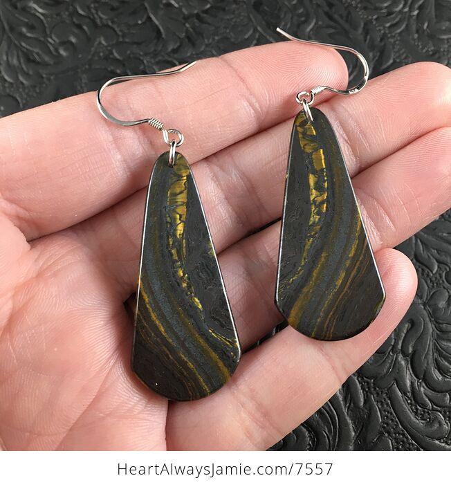 Australian Tiger Eye Stone Jewelry Earrings - #AEqoxeIL1ZI-2