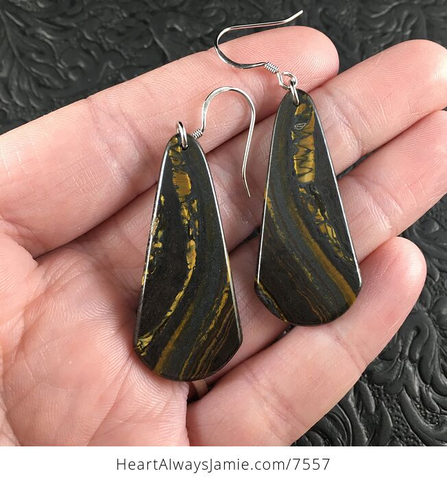 Australian Tiger Eye Stone Jewelry Earrings - #AEqoxeIL1ZI-1