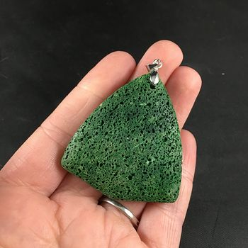 Awesome Green Lava Rock Vesuvianite Pendant #vE8nCNXrqxM