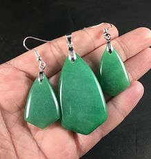 Beautiful Green Aventurine Stone Necklace and Earring Set #9eqrwZLajgQ