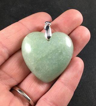 Beautiful Heart Shaped Green Aventurine Stone Pendant #pLmlotoWfL0