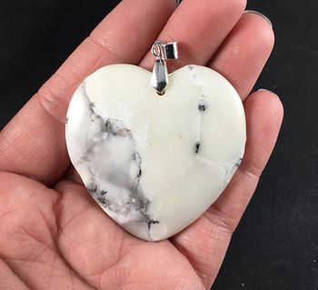 Beautiful Heart Shaped Natural African Dendrite Opal Stone Pendant #MYY8XNIN3Rw
