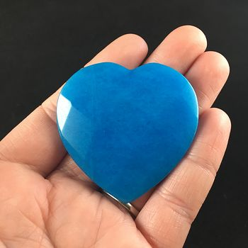 Blue Jade Stone Faceted Heart Shaped Cabochon #8Lj6pXwf5Cc