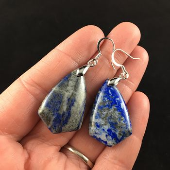 Blue Lapis Lazuli Stone Jewelry Earrings #ZYiNOvs8QYU