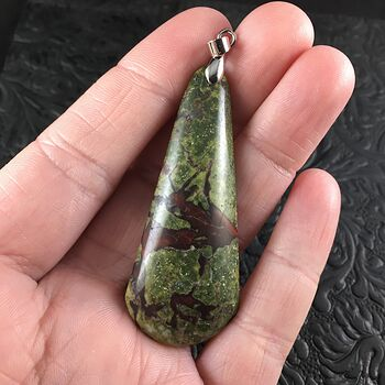 Green and Red African Bloodstone Jewelry Pendant #J0Q9Fnbx7to