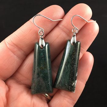 Green Moss Agate Stone Jewelry Earrings #kWSE5G4VZ1U