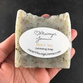 Handmade Exfoliating Black Tea Kitchen Hand and Body Bar Soap Coconut and Olive Oil Base #xU4NgfKs7h4