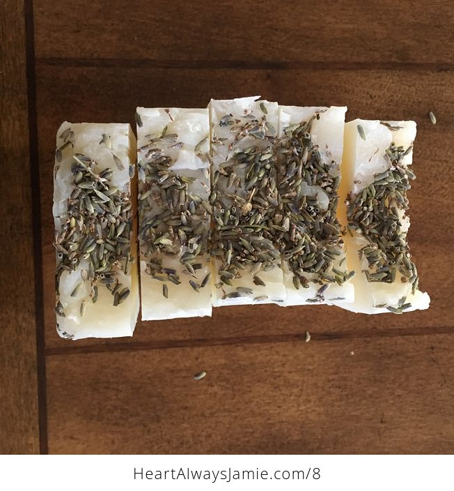 Handmade Lavender Scented Hand and Body Bar Soap with Buds on Top Whole Loaf Can Be Made - #tdrQEO0nYSo-2