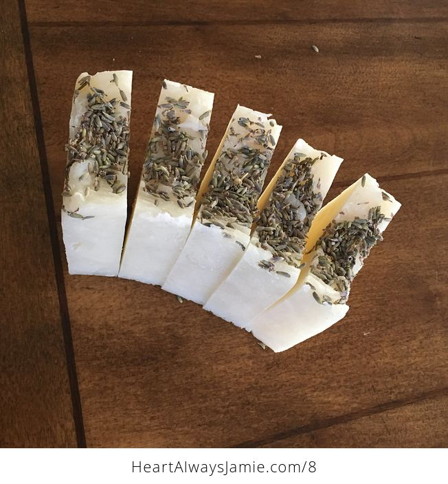 Handmade Lavender Scented Hand and Body Bar Soap with Buds on Top Whole Loaf Can Be Made - #tdrQEO0nYSo-3