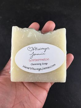 Handmade Watermelon Kitchen Hand and Body Bar Soap Coconut and Olive Oil Base #H0XHJ5tXKBQ
