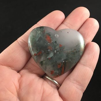Heart Shaped African Bloodstone Jewelry Pendant #bf6oH9c8Zm4