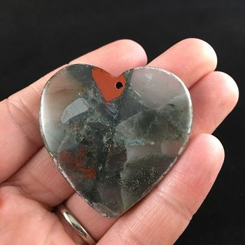Heart Shaped African Bloodstone Jewelry Pendant #iMEJsF0vu34