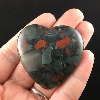 Heart Shaped African Bloodstone Jewelry Pendant #lY2GbEDA0Pk