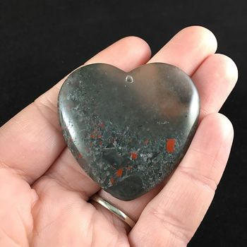 Heart Shaped African Bloodstone Jewelry Pendant #sOsiDOZ7nyE