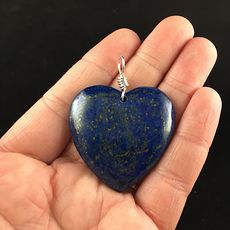 Heart Shaped Blue Lapis Lazuli Stone Pendant Jewelry #RBnKPOC6vl8