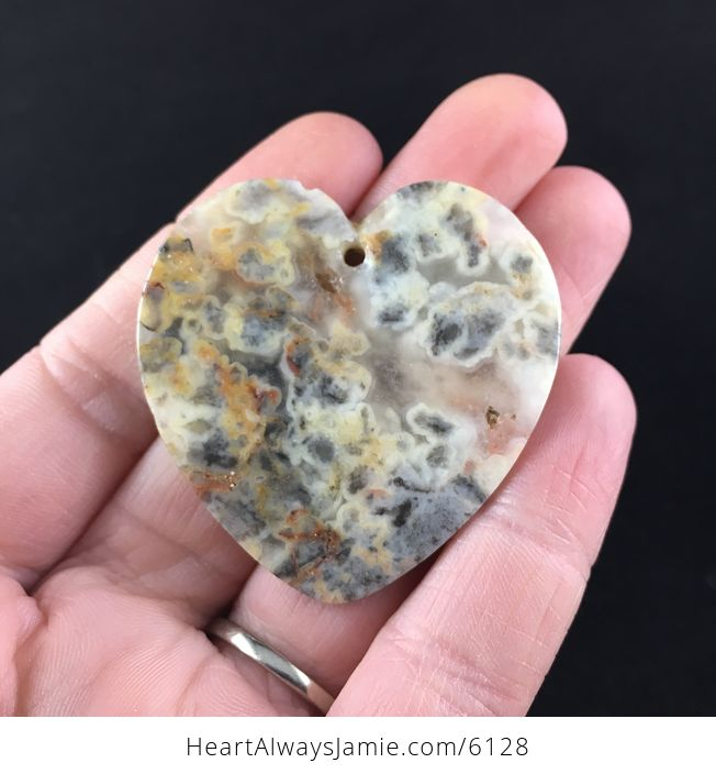 Heart Shaped Crazy Lace Agate Stone Jewelry Pendant - #BpsksJ2Dmvw-6