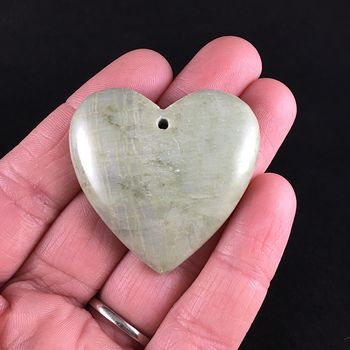 Heart Shaped Green Jasper Stone Jewelry Pendant #ABfvF1yy9TQ