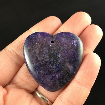 Heart Shaped Lepidolite Stone Jewelry Pendant #BJDaZyMfIe0
