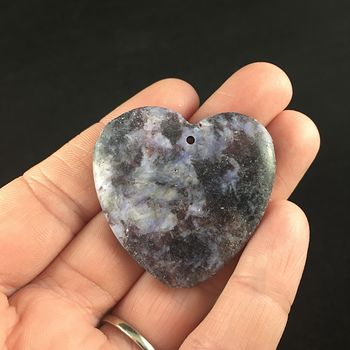 Heart Shaped Lepidolite Stone Jewelry Pendant #Erpnw2b453o