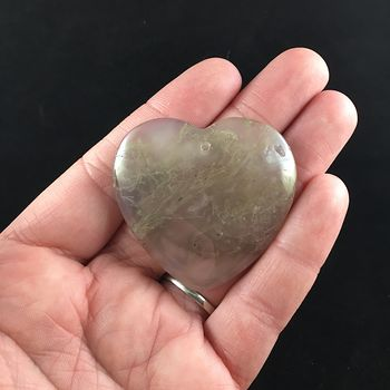 Heart Shaped Moss Agate Jewelry Pendant #hfNWjyQCZGU
