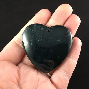 Heart Shaped Moss Agate Stone Jewelry Pendant #3ERzCdxzOP8