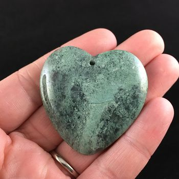 Heart Shaped Moss Agate Stone Jewelry Pendant #O9trHwsgEq0