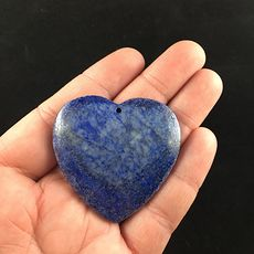 Heart Shaped Natural Blue Lapis Lazuli Stone Jewelry Pendant #EIWmwvZJues