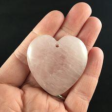 Heart Shaped Pink Rose Quartz Stone Pendant Jewelry #Gx7k4ghZtYs
