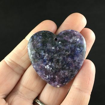 Heart Shaped Purple Lepidolite Stone Jewelry Pendant #hNmR6mMy0gw