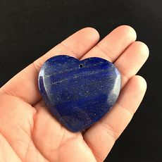 Heart Shaped Pyrite and Lapis Lazuli Stone Jewelry Pendant #vf5uOn6Ulg4