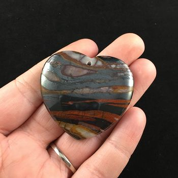 Heart Shaped Tiger Iron Stone Jewelry Pendant #7rlhkRjv0hQ