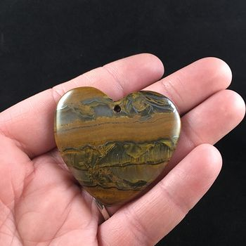 Heart Shaped Tiger Iron Stone Jewelry Pendant #riCfBwrSZtA