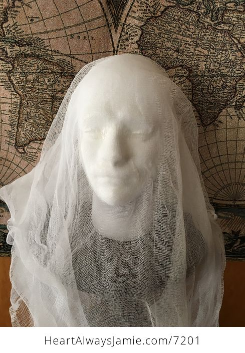 Male Ghost Head Spooky Indoor Halloween Decoration - #MF2aonW7vo4-7