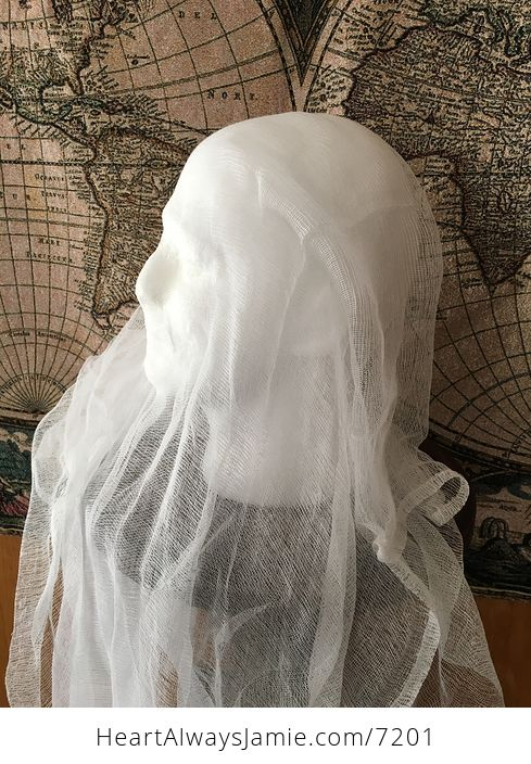 Male Ghost Head Spooky Indoor Halloween Decoration - #MF2aonW7vo4-5