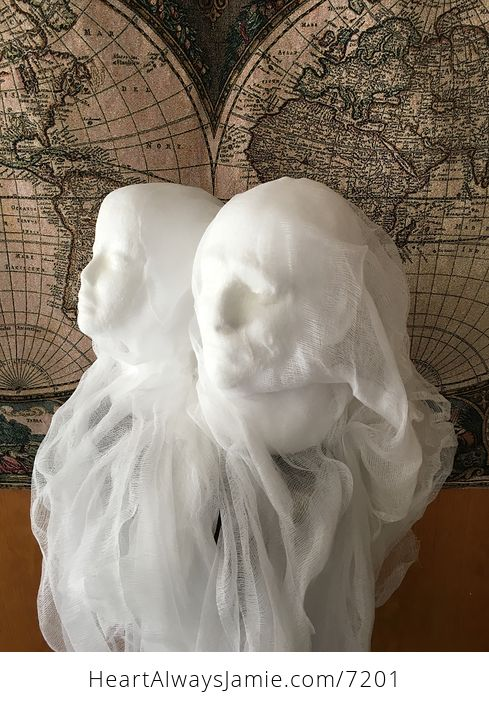 Male Ghost Head Spooky Indoor Halloween Decoration - #MF2aonW7vo4-11