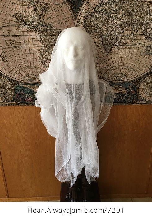 Male Ghost Head Spooky Indoor Halloween Decoration - #MF2aonW7vo4-4