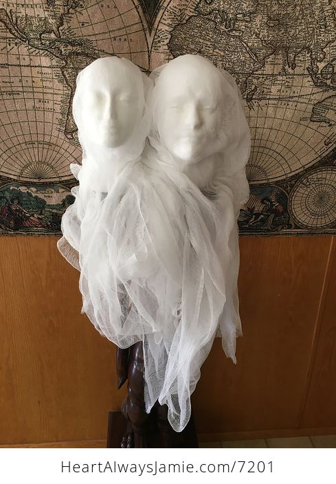 Male Ghost Head Spooky Indoor Halloween Decoration - #MF2aonW7vo4-8