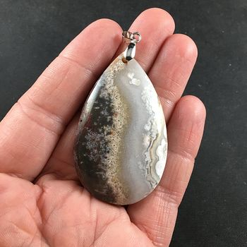 Natural Crazy Lace Agate Stone Pendant Necklace Jewelry #bXUuEOFVREY