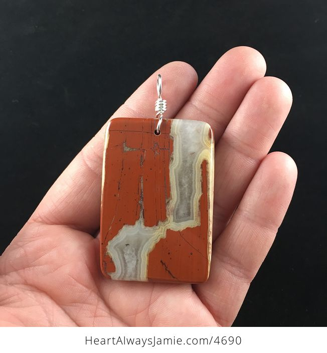 Natural Red Jasper Stone Jewelry Pendant - #n8rtlwppchY-4