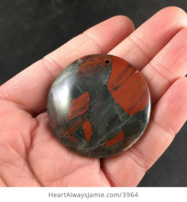 Natural Round African Bloodstone Jewelry Necklace Pendant - #nlINTUD7OVA-2
