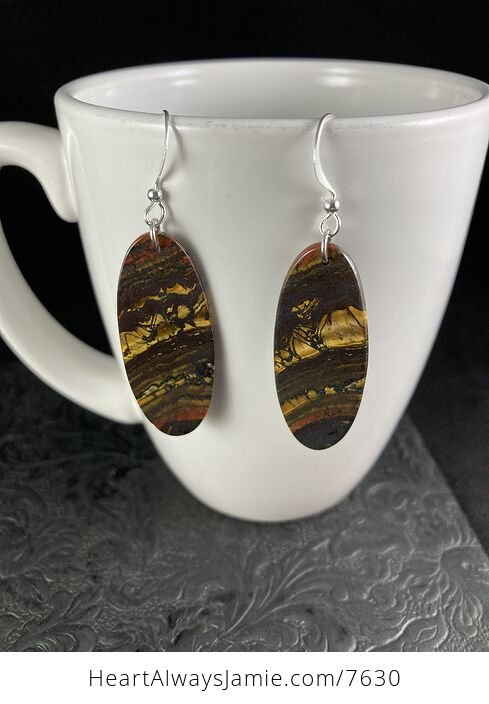 Oval Australian Tiger Eye Stone Jewelry Earrings - #HMr5na3mSPY-3