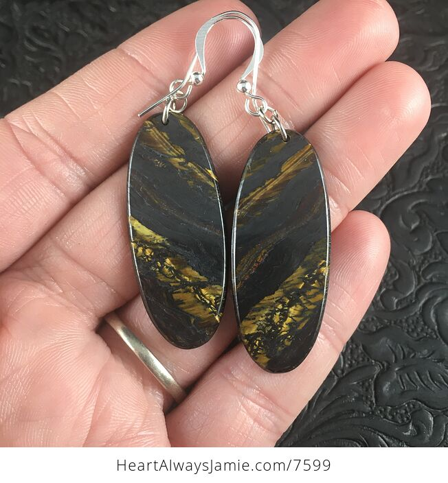 Oval Australian Tiger Eye Stone Jewelry Earrings - #WuCsv1DZpjU-1