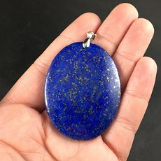 Oval Shaped Blue Lapis Lazuli Stone Pendant #rudVjEsseXY