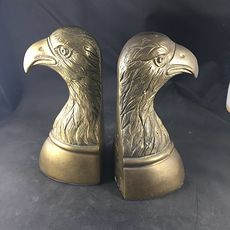 Pair of Vintage Brass Eagle Head Bookends #camcizJHUqU