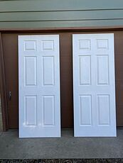 Primed 6 Panel Hollow Core Primed Molded Composite Slab Doors #s5oSFJK2H5k