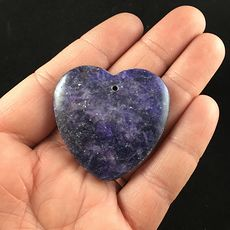 Purple Heart Shaped Lepidolite Stone Jewelry Pendant #5X0qTwtdAC0