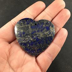 Pyrite and Lapis Lazuli Heart Shaped Stone Jewelry Agate Pendant #5BUqisybyQE