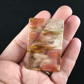 Rectangle Shaped Fire Cherry Quartz Stone Jewelry Pendant #mWnvkXA4iwY