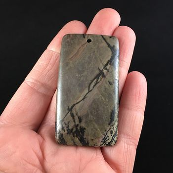 Rectangle Shaped Rhodonite Stone Jewelry Pendant #ihr2GTcUNko