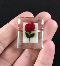Red Rose Floral Brooch Pin Jewelry #okkG9xUv19c